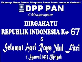 DPP PAN Mengucapkan Dirgahayu Kemerdekaan RI Ke- 67 & IDUL FITRI 1433 Hijriyah 193