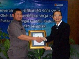 Tiga Puskesmas Meraih ISO 9001-2008 WQA 235