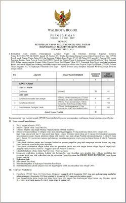 Informasi Pendaftaran CPNS 236