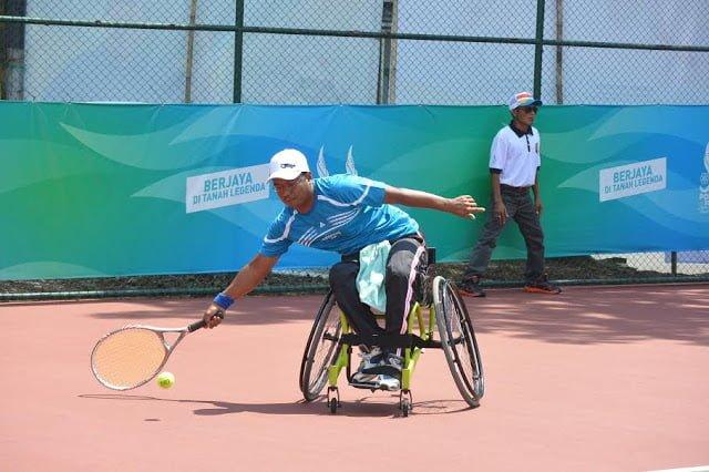 Kursi Roda Tenis Paralimpian Warnai Peparnas XV 235
