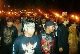 Ratusan Obor Hiasi Jalan Kota Bogor 231