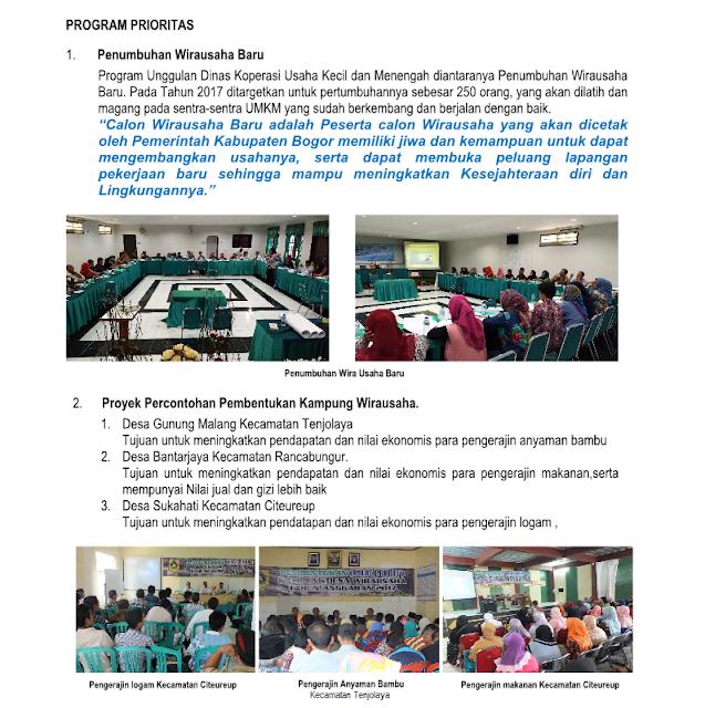 Kinerja Dinas Koperasi UKM Kabupaten Bogor Tahun 2017 240