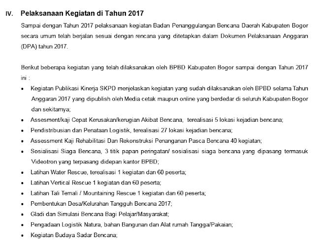 Kinerja BPBD Kabupaten Bogor 238