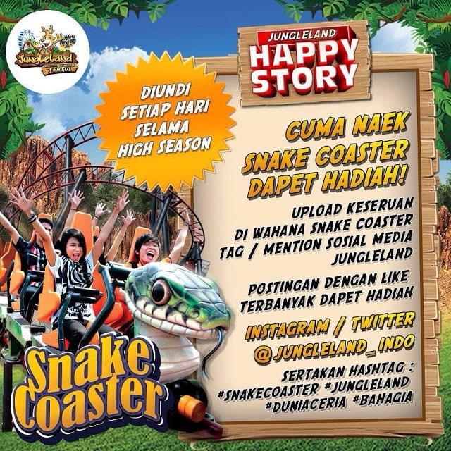 Snake Coaster Jungleland Adventure Theme Park Sentul