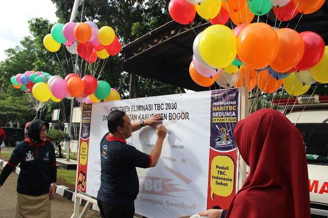 Apel Pagi Dinas Kesehatan Kabupaten Bogor Peringati Hari Tuberkulosis Sedunia 236