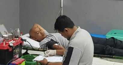 Wakapolresta Donor Darah Di SMANSA 233