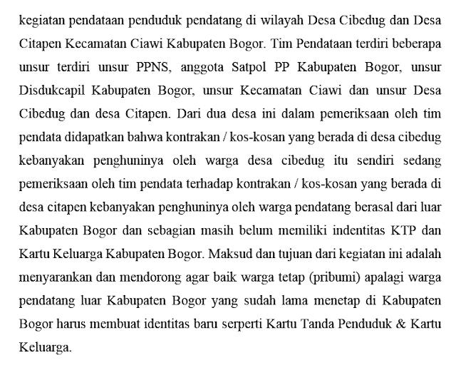 Kinerja Sapol PP Kabupaten Bogor 234