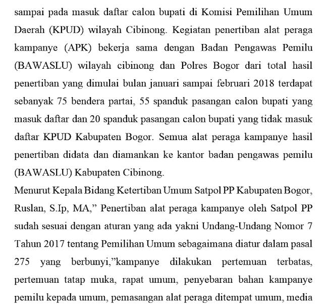 Kinerja Sapol PP Kabupaten Bogor 236