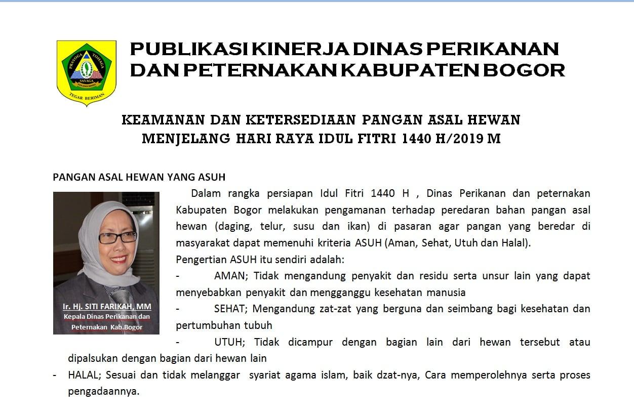 Kinerja Dinas Perikanan Dan Peternakan Kabupaten Bogor 221