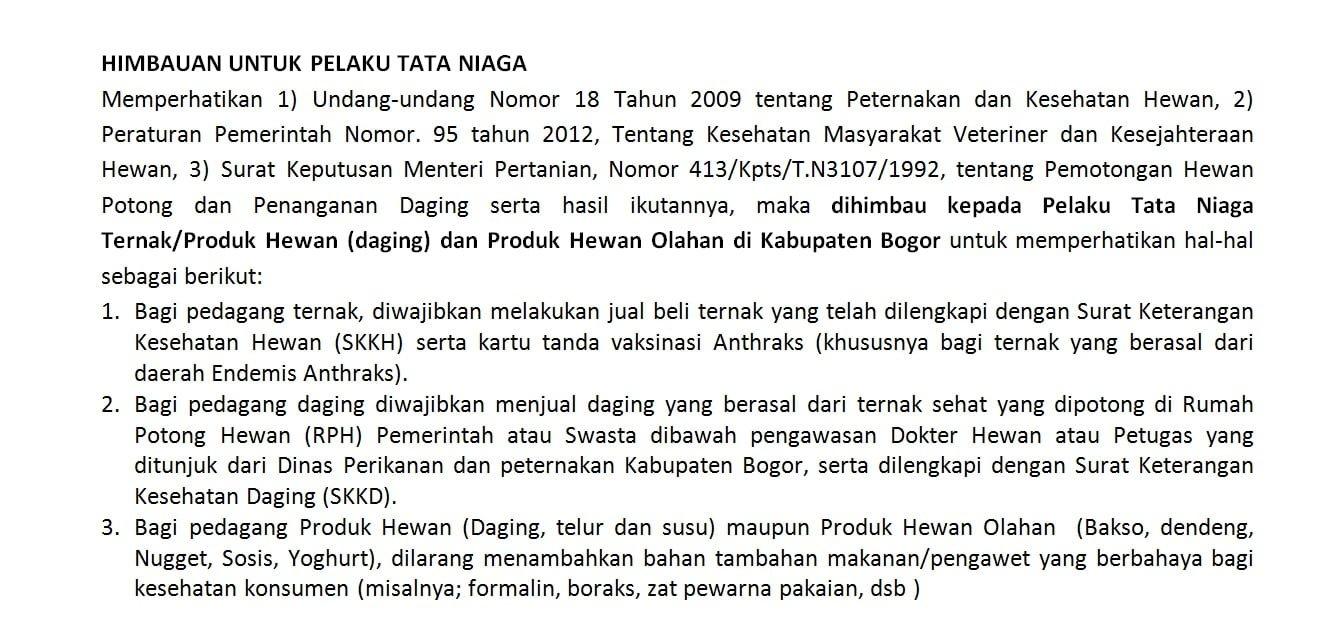 Kinerja Dinas Perikanan Dan Peternakan Kabupaten Bogor 227